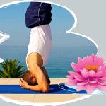 Obrnutih položaji Sirshasana (Stoj na glavi) i Sarvagasana (svijeća)